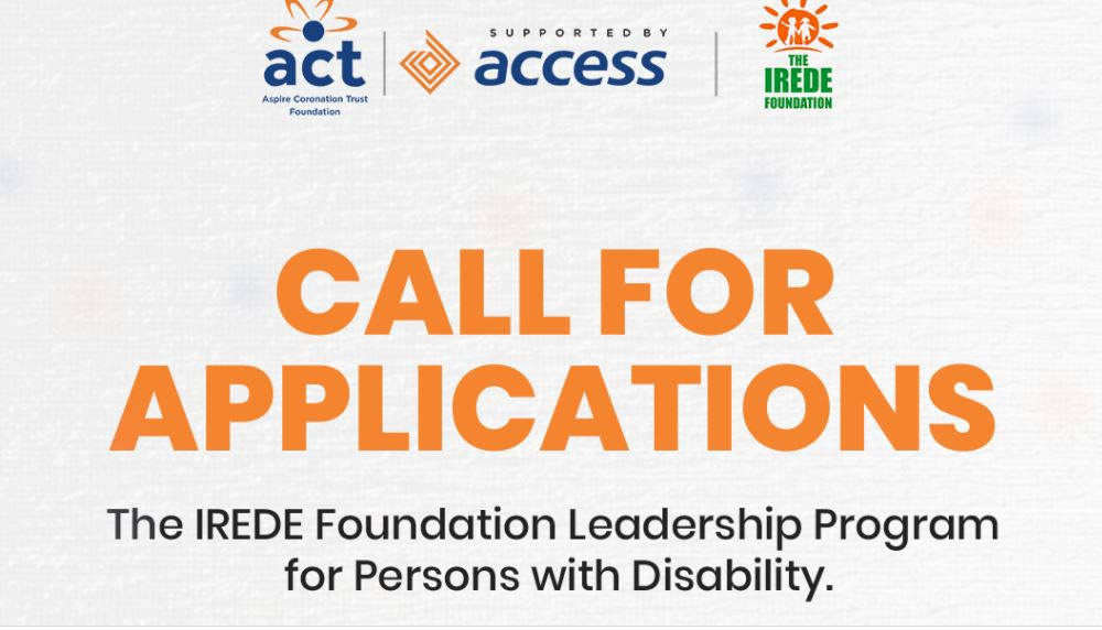 IREDE Foundation Leadership Program 2021 for People with Disabilities in Nigeria