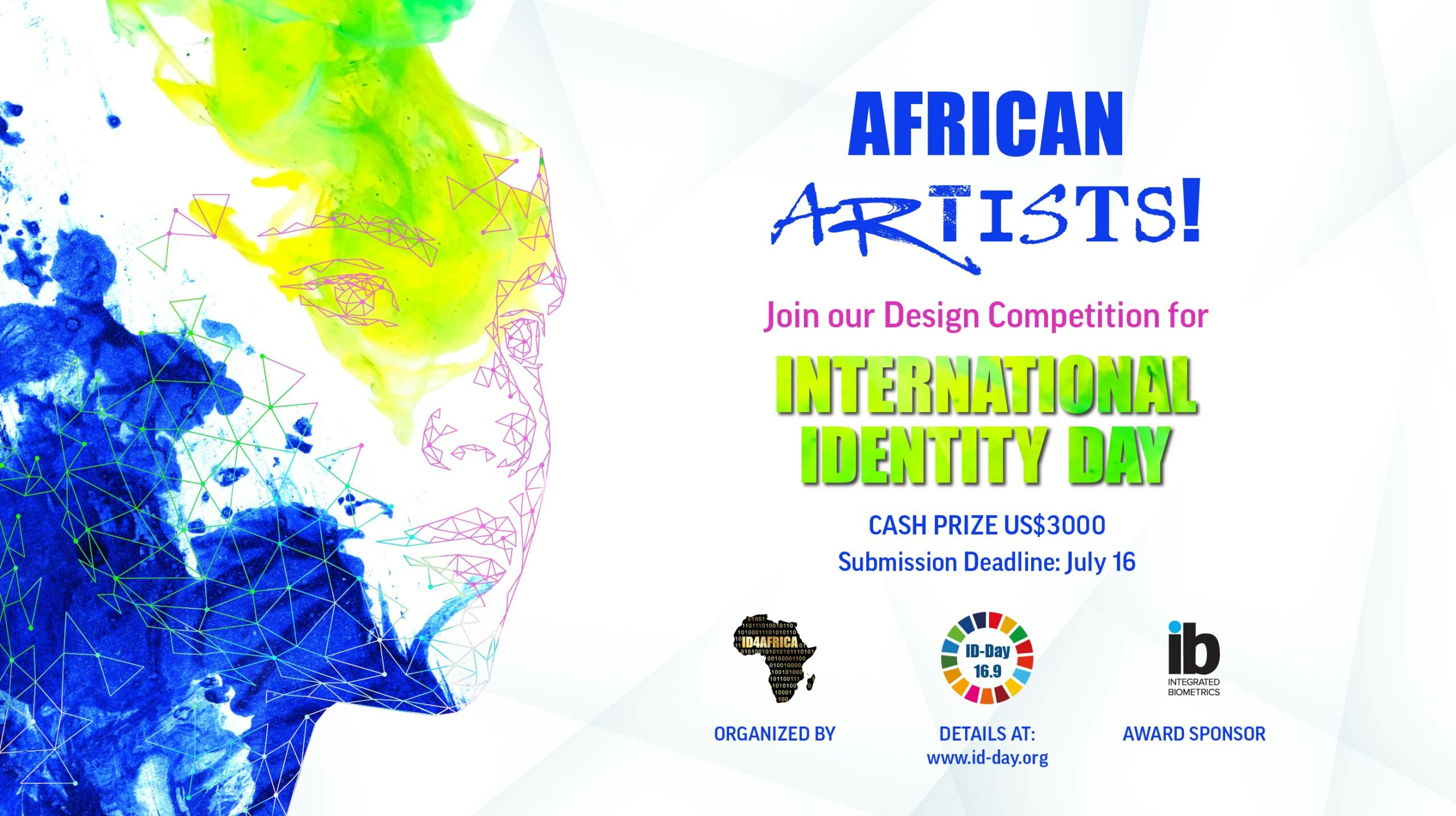 International Identity Day Design Competition 2021 for African Digital Artists (US$3000 prize)