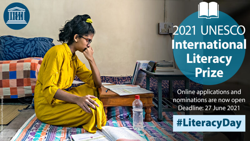 UNESCO International Literacy Prizes 2021 (US$150,000 Total prize)
