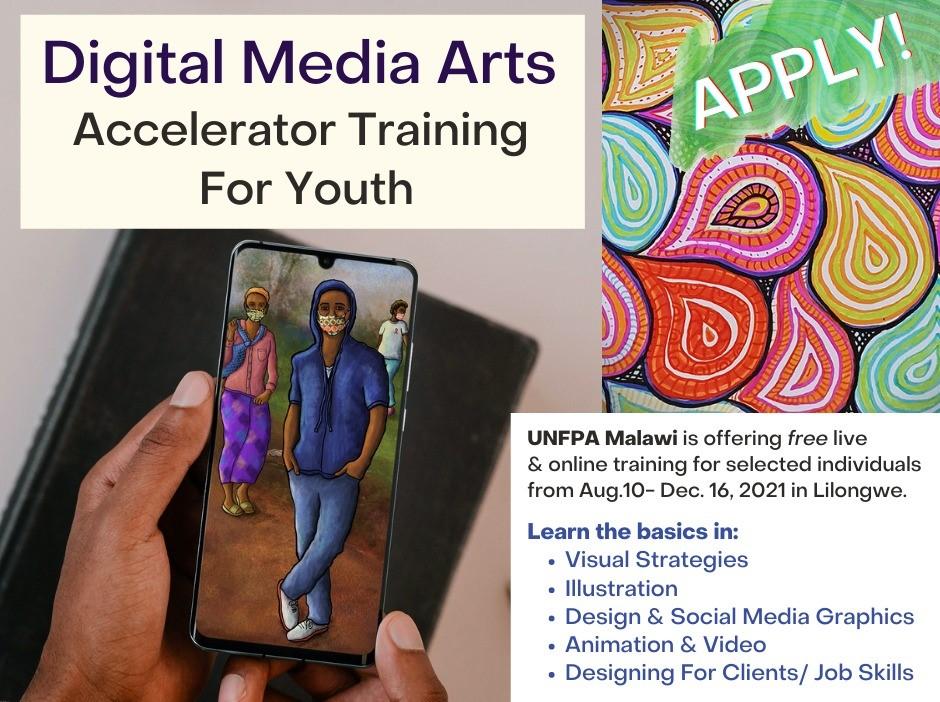 UNFPA Malawi Digital Media Arts Accelerator Training for Youth 2021