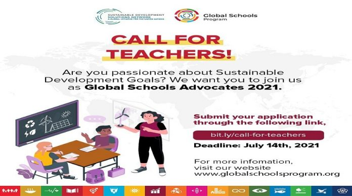 United Nations Sustainable Development Solutions Network (UNSDSN) Global Schools Advocates Program 2021