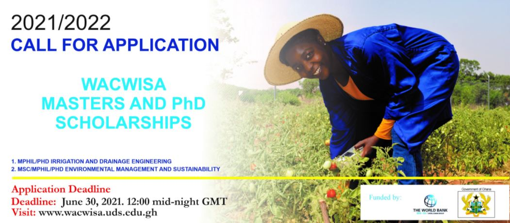 WACWISA Masters & PhD Scholarships 2021/2022 (Fully-funded)