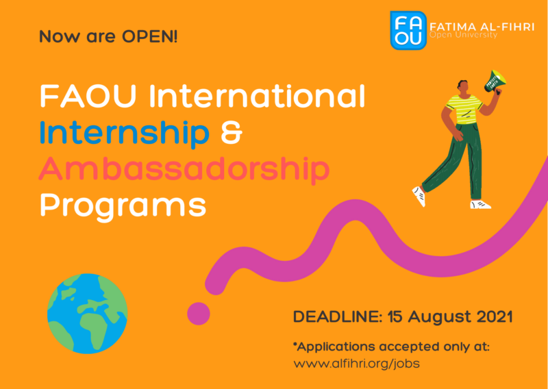 Fatima Al-Fihri Open University (FAOU) Autumn Ambassadors Program 2021