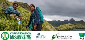 Conservation Leadership Program (CLP) Future Conservationist Awards 2022 (Up to $15,000)