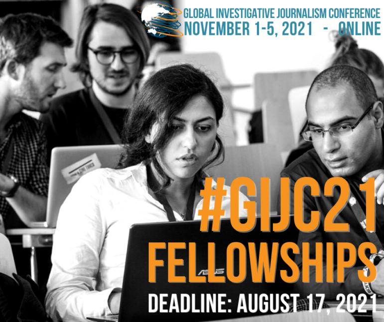 Global Investigative Journalism Conference 2021 (GIJC21) Fellowship for Journalists