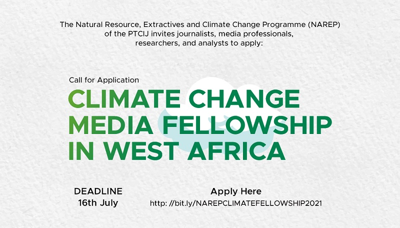PTCIJ Climate Change Media Fellowship Program 2021 for West African Journalists