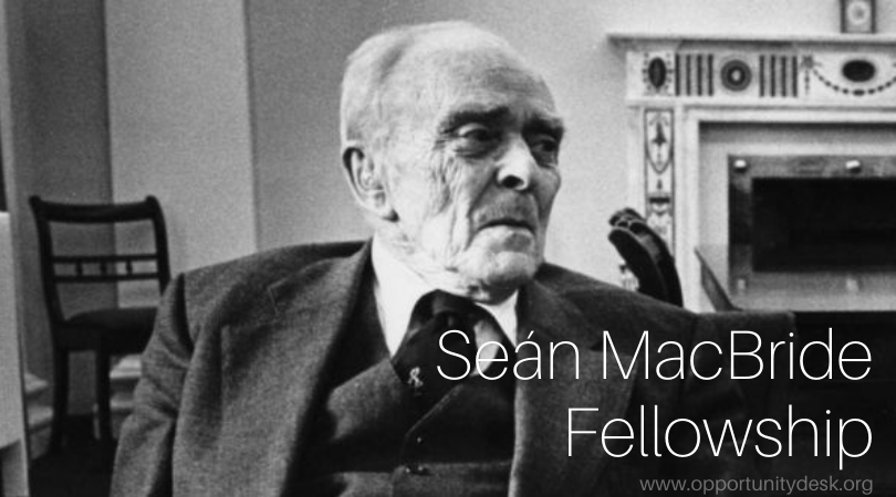 Seán MacBride Fellowship 2022/2023 for Namibians to Study in Ireland (Fully-funded)