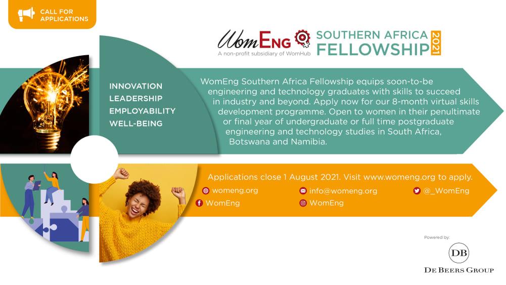 Women in Engineering (WomEng) Southern Africa Fellowship 2021