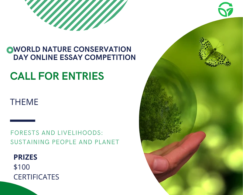 World Nature Conservation Day 2021 Essay Competition (Win $100)