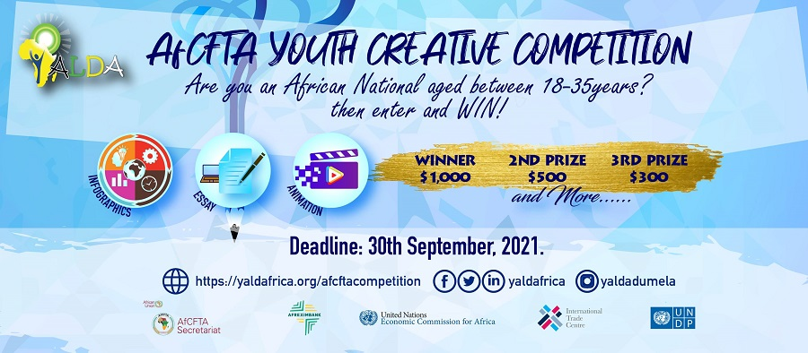 YALDA AfCFTA Youth Creative Competition 2021 for Young Africans (Win $1,000 prize)