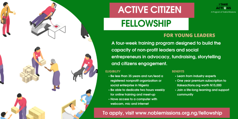 Active Citizen Fellowship 2021 for Young Leaders in Nigeria [Cohort 2]
