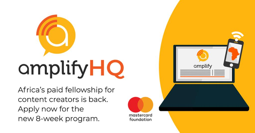 Amplify HQ Fellowship 2021 for African Content Creators ($500 stipend)